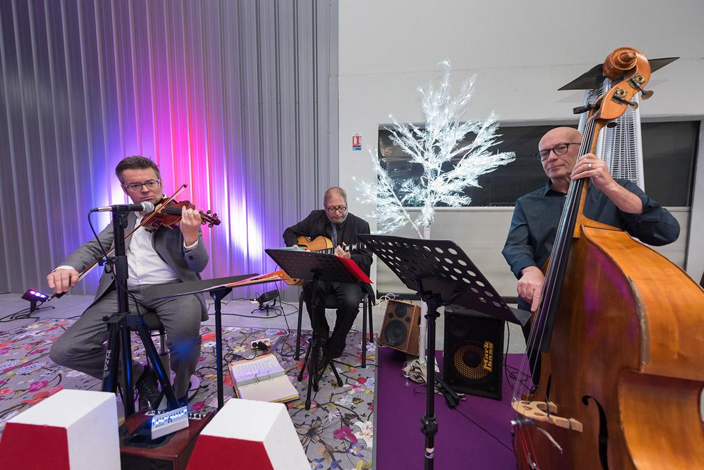 Jazztrio bei einer Hochzeit
