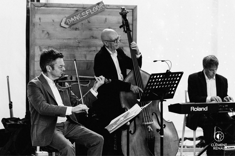 Gilou Haggen Bass und Laurent Muller bei einer Hochzeit