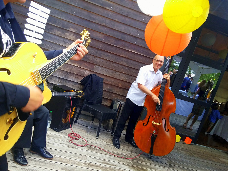 Jazztrio für eine Hochzeit
