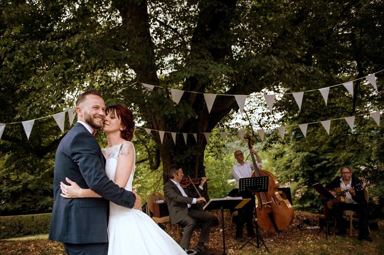 Jazzensemble Cordology bei einer Hochzeit