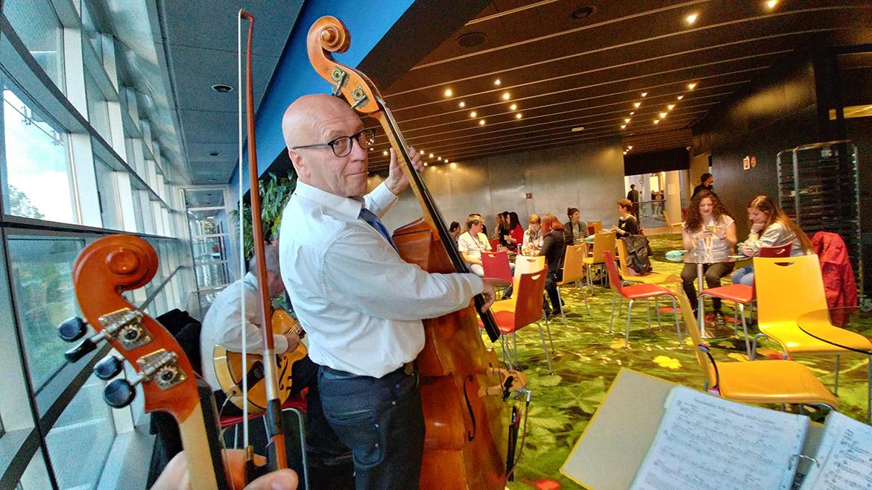 Musikalische Umrahmung eines Wahlabends im Europäischen Parlament