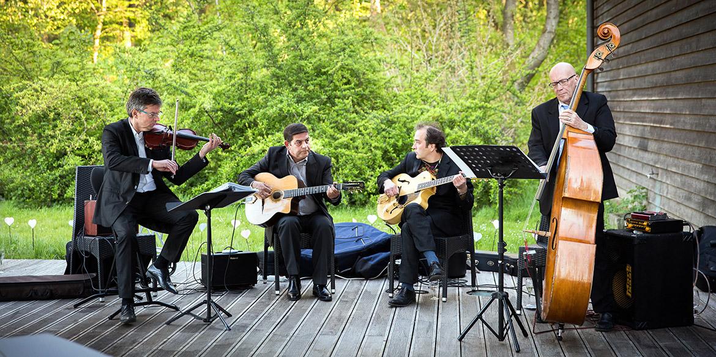 Jazzquartett bei einer Hochzeit